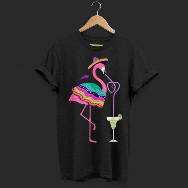 Cinco De Mayo Margarita Flamingo Drinking shirt