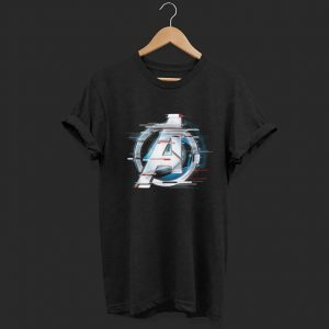 Marvel Avengers Endgame Logo Silver Speed shirt