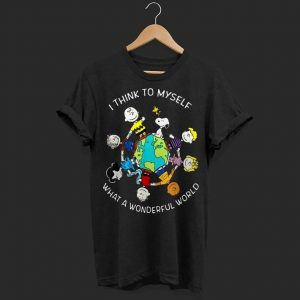 Snoopy and Charlie Brown i think to myself what a wonderful world shirt