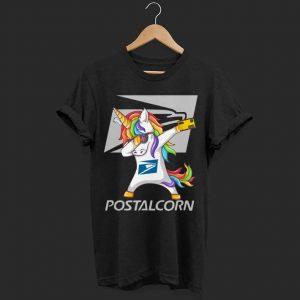 Unicorn Dabbing postalcorn shirt