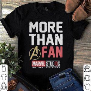 Unisex Marvel Studios Ten Years More Than A Fan shirt