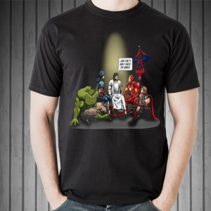 And That's How I Saved The World Jesus With Marvel Avenger shirt