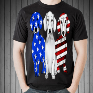 Dachshund Breed Dog America Flag Patriot shirt