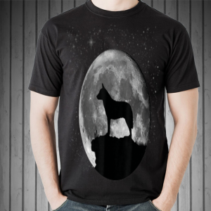 Australian cattle dog in the midnight moon shirt