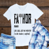 Fathor Like Dad Just Way Mightier Father's Day Mjolnir shirt