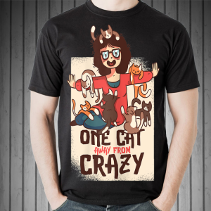 One Cat Away From Crazy shirt