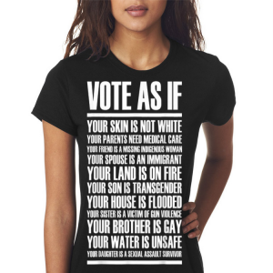Vote as if your skin is not white shirt 2
