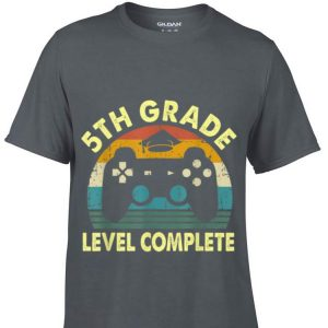 5th grade level complete Video Gamer Play Station Handle game Graduation shirt