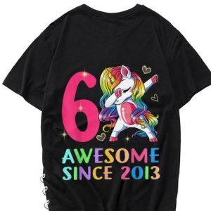 6 Awesome Since 2013 Unicorn Dabbing shirt