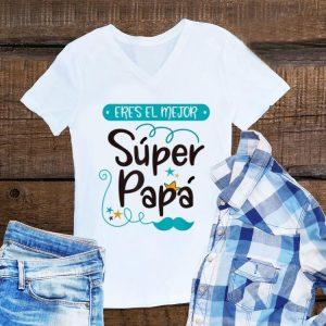 Divertida camiseta el mejor super papa universo y mundo shirt