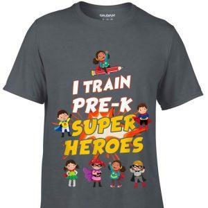 I Train Pre-k Super Heroes Teacher shirt