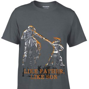 Like Father Like Son Motocross Dirt Bike Dad Day shirt