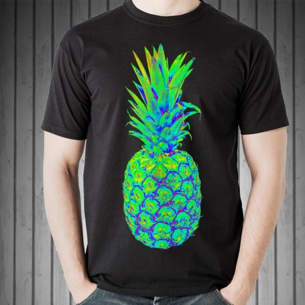 Pineapple Trippy EDM Colorful Rave shirt