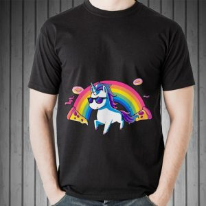 Rainbow Glasses Unicorn Donut Pizza shirt