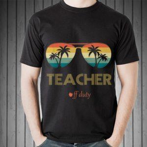 Summer Teacher Off Duty Glass Vintage