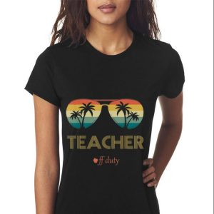 Summer Teacher Off Duty Glass Vintage 2