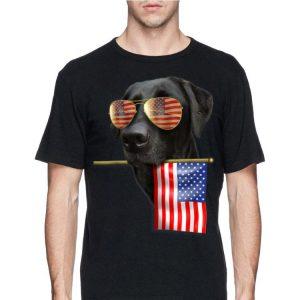 4th Of July American Flag Labrador Dog shirt