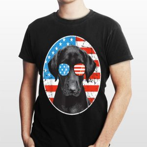 4th Of July Dog Sunglass American Flag Labrador Retriever shirt