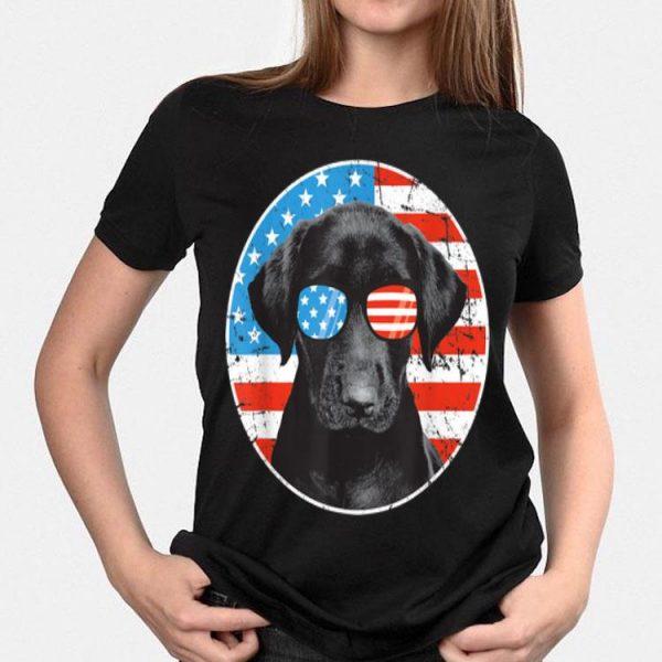 4th Of July Dog Sunglass American Flag Labrador Retriever shirt