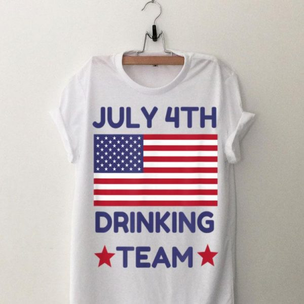 4th Of July Drinking Team American Flag shirt