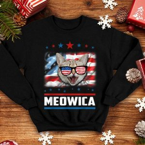 4th Of July Meowica American Flag Cat shirt