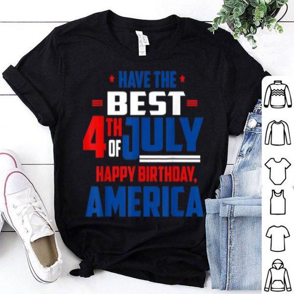 4th Of July Patriotic America Flag Happy Birthday shirt