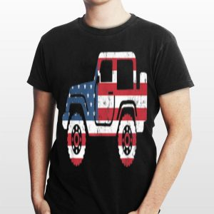 American Flag 4th Of July Jeep Independence Day shirt