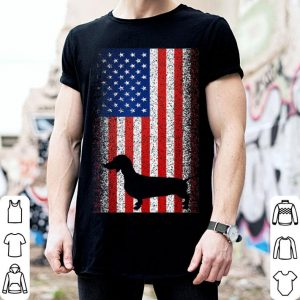 American Flag Dachshund Dog 4th Of July shirt