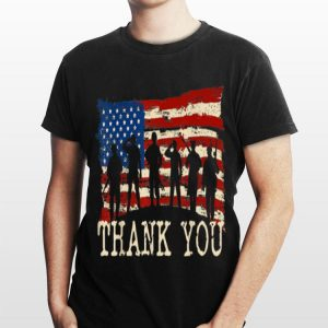 American Flag Thank you Veterans shirt