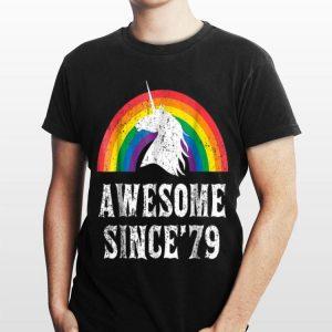 Awesome Since 79 Unicorn Rainbow shirt