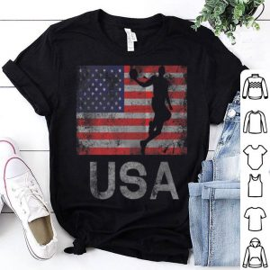 Basketball American Flag July 4th Freedom shirt