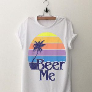 Beer Me Vintage Retro California Beach