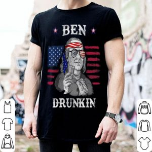 Ben Drunkin Franklin American Flag Pride Day 4th of July shirt