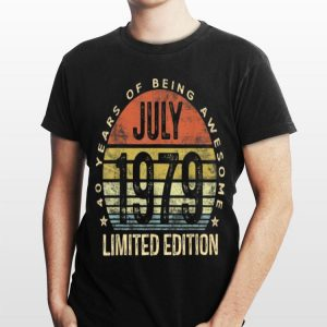 Born July 1979 Limited Edition Vintage 40 Years Of Being Awesome shirt