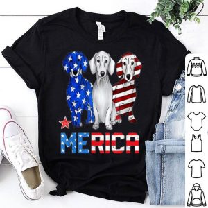 Dachshund dog Merica American Flag Patriot 4th Of July shirt
