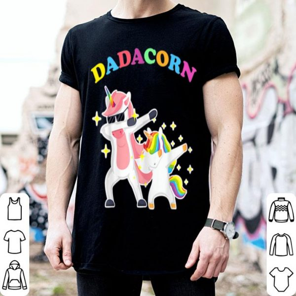 Dadacorn Dabbing Unicorn Fathers Day shirt