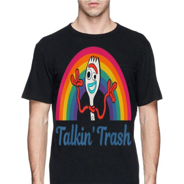 Disney Pixar Toy Story 4 Forky Talkin Trash Rainbow shirt