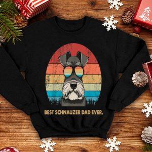 Dog Vintage Best Schnauzer Dad Ever Father Day Vintage Sunglass shirt
