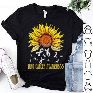 Drop Lung Cancer Awareness Sunflower shirt