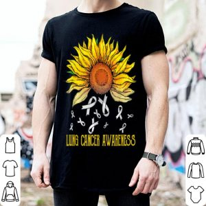 Drop Lung Cancer Awareness Sunflower shirt