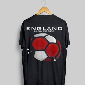 England Lionesses 2019 France Soccer Ball shirt