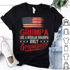 Grumpa Like A Regular Grandpa Only Grumpier American Flag shirt