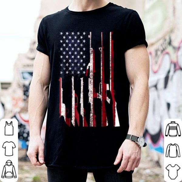 Gun 4th of July American Flag Independence Day shirt