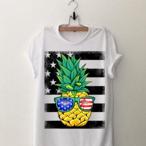 Hawaiian Pineapple American Flag Sunglasses 4th Of July shirt