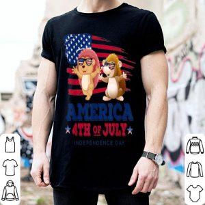Independence day Hedgehog American Flag shirt