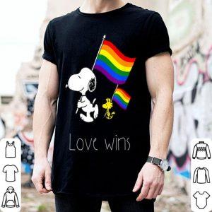 Love Wins Snoopy LGBT Gay Pride Rainbow Flag shirt