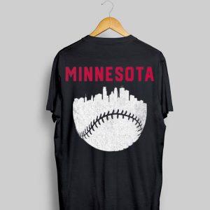 MPLS Minnesota Skyline Baseball shirt