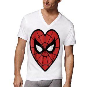 Marvel Spider-Man Face Mask Valentine's Heart shirt