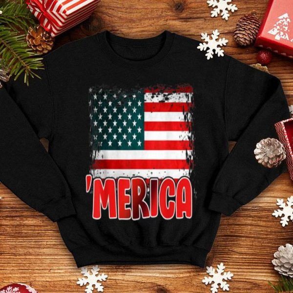 Merica 4th Of July Independence Day American Flag shirt