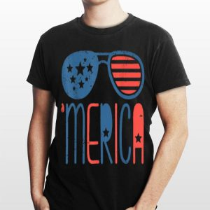 Merica Aviators Toddler 4th Of July Independence Day shirt